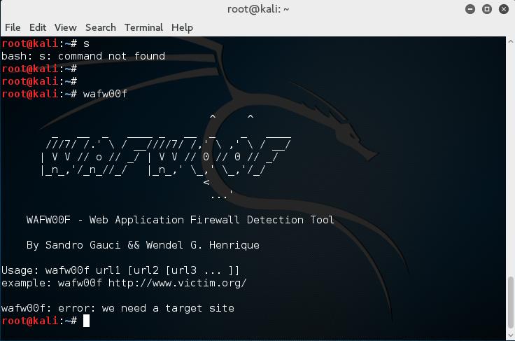 kali下服务信息搜集及Wafw00f 检测IDS_IPS